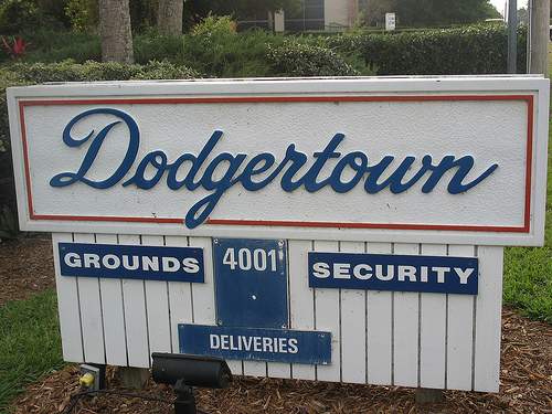 dodgertown vero beach sign