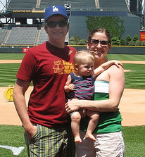 family at Coors Field baseball tour